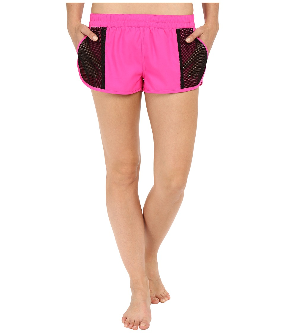 Fox - Vented Boardshorts (Fuchsia) Women's Swimwear
