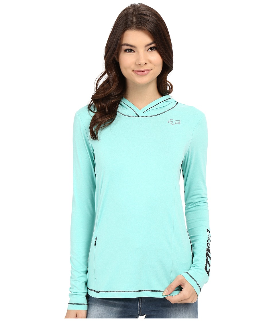 Fox - Descent Tech Hoodie (Sea Foam) Women's Sweatshirt
