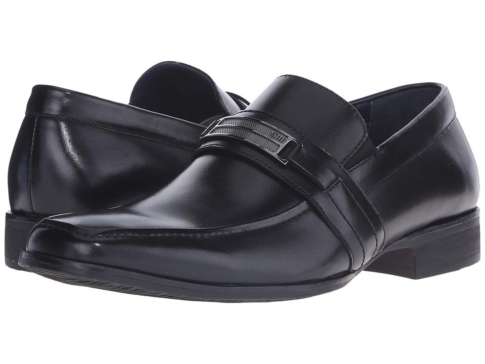 Steve Madden - Shoore (Black Leather) Men's Slip-on Dress Shoes