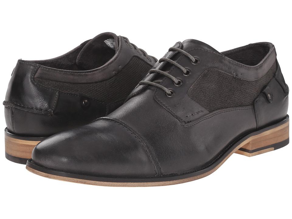 Steve Madden - Jagwar (Grey Leather) Men's Lace Up Wing Tip Shoes
