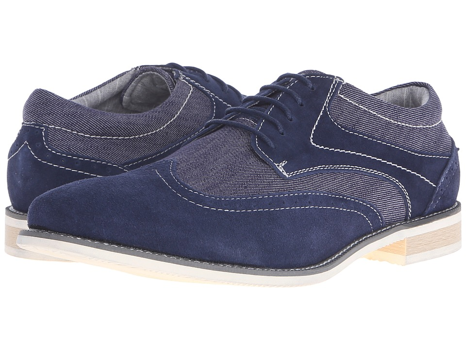 Steve Madden - Stern (Navy Suede) Men's Lace up casual Shoes