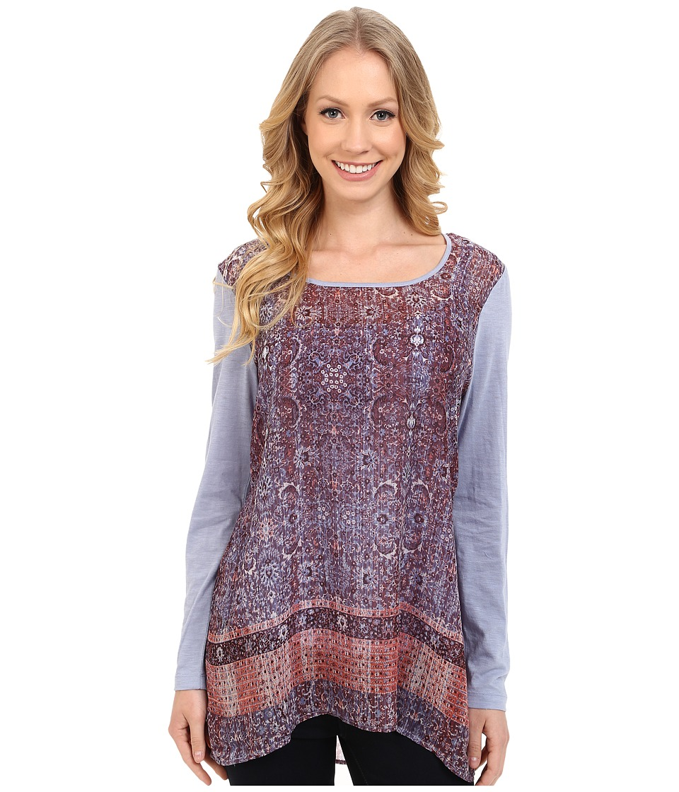 Miraclebody Jeans Kyra Keyhole Tunic w/ Body-Shaping Inner Shell (Pewter) Women
