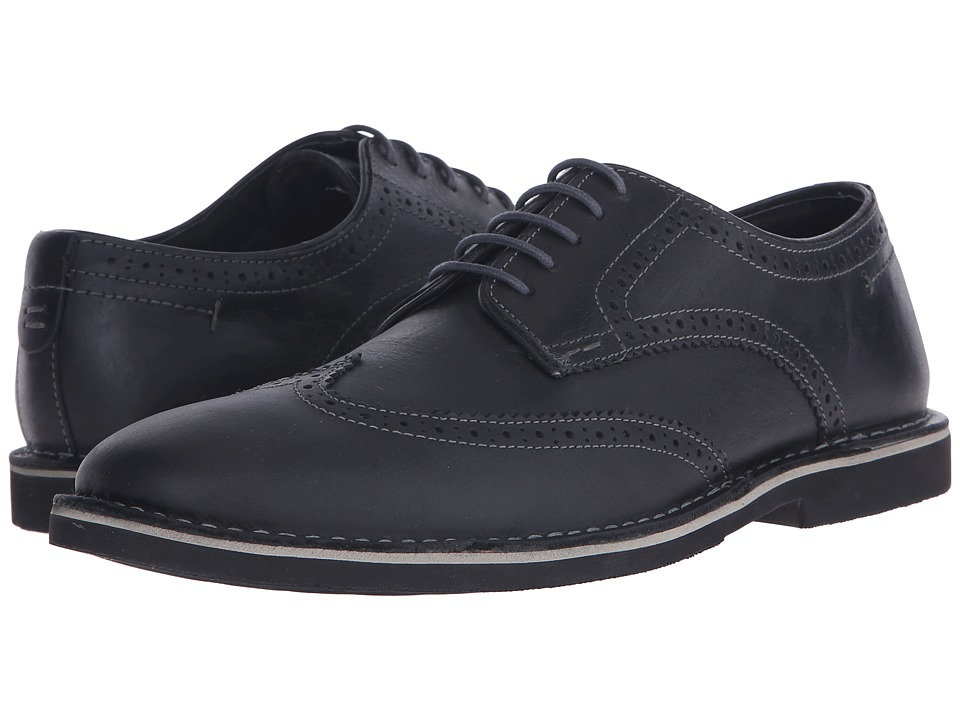 Steve Madden Lookus (Black Leather) Men