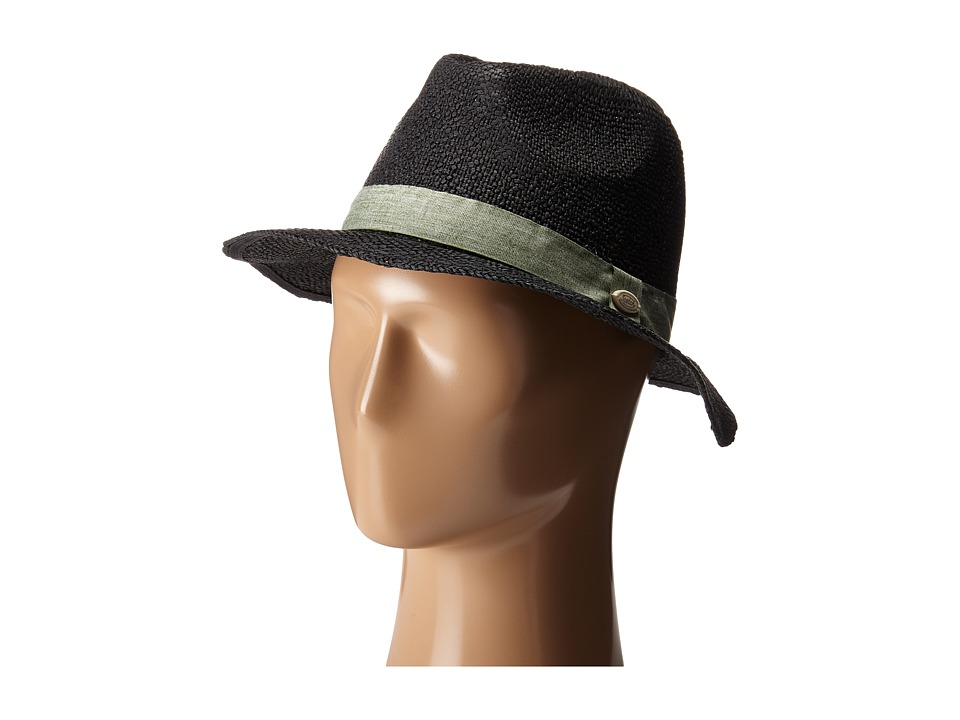 Scotch & Soda - Festival Safari Straw Hat (Black) Safari Hats