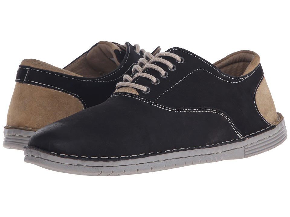 Steve Madden - Rothman (Black Leather) Men's Lace up casual Shoes