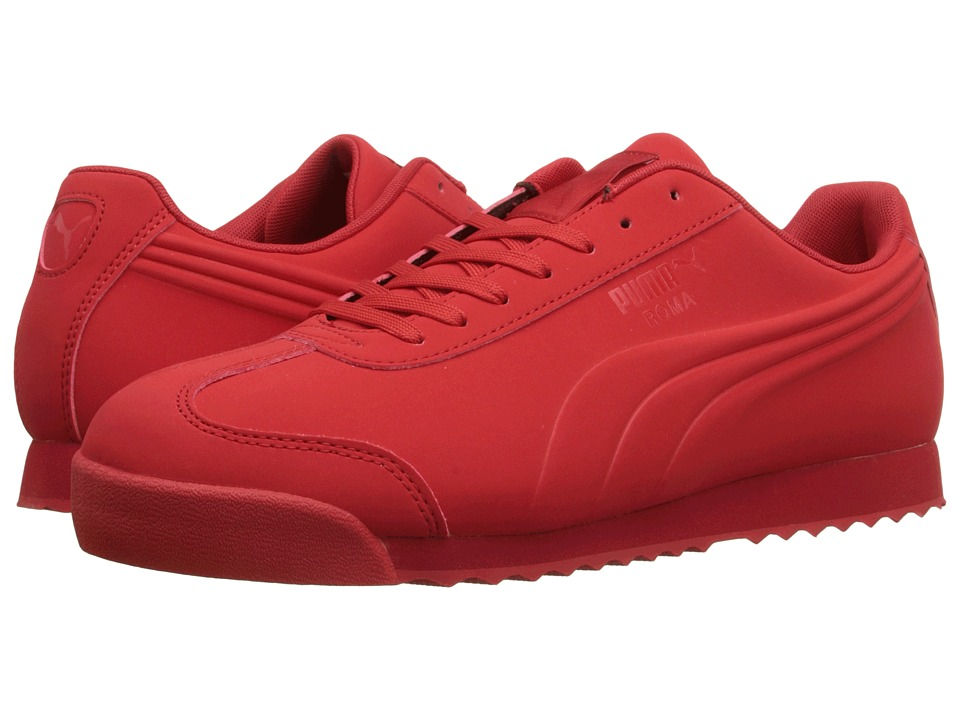 PUMA - Roma Mono Emboss (High Risk Red) Men's Shoes