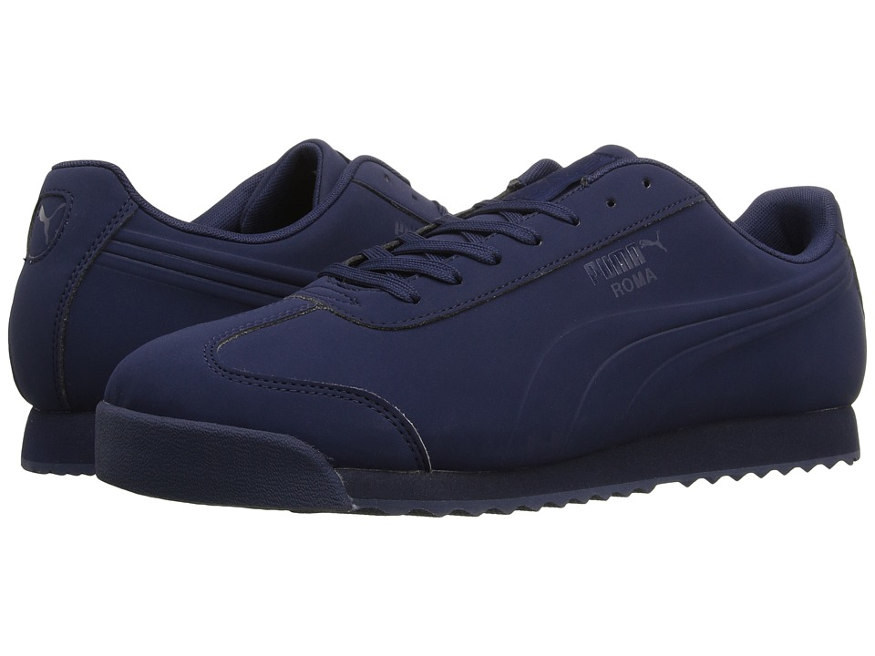 PUMA - Roma Mono Emboss (Peacoat) Men's Shoes