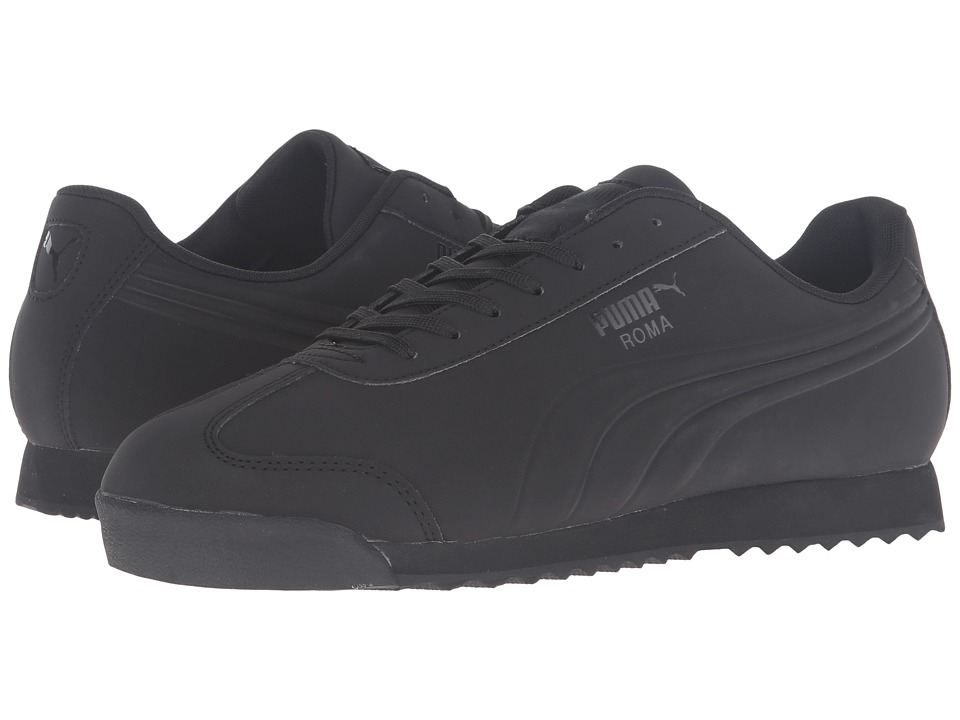 PUMA - Roma Mono Emboss (Black) Men's Shoes