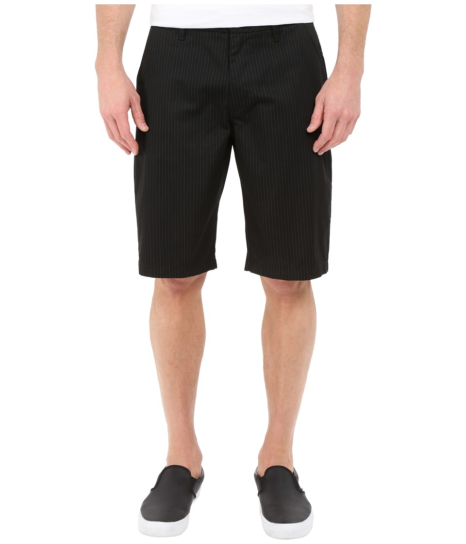 Fox - Essex Pinstripe Shorts (Black) Men's Shorts
