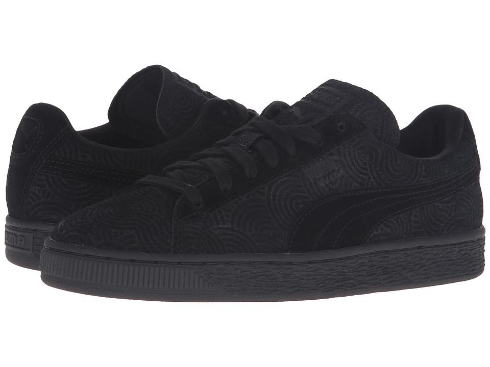 PUMA - Suede Classic + Colored (Black/Black) Women's Shoes