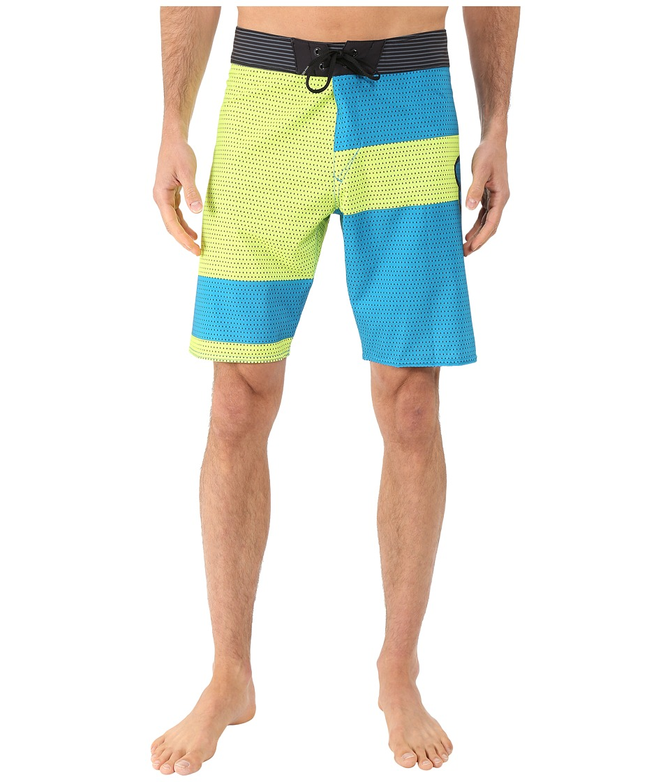 Fox - Meshed Up Boardshorts (Flo Yellow) Men's Swimwear
