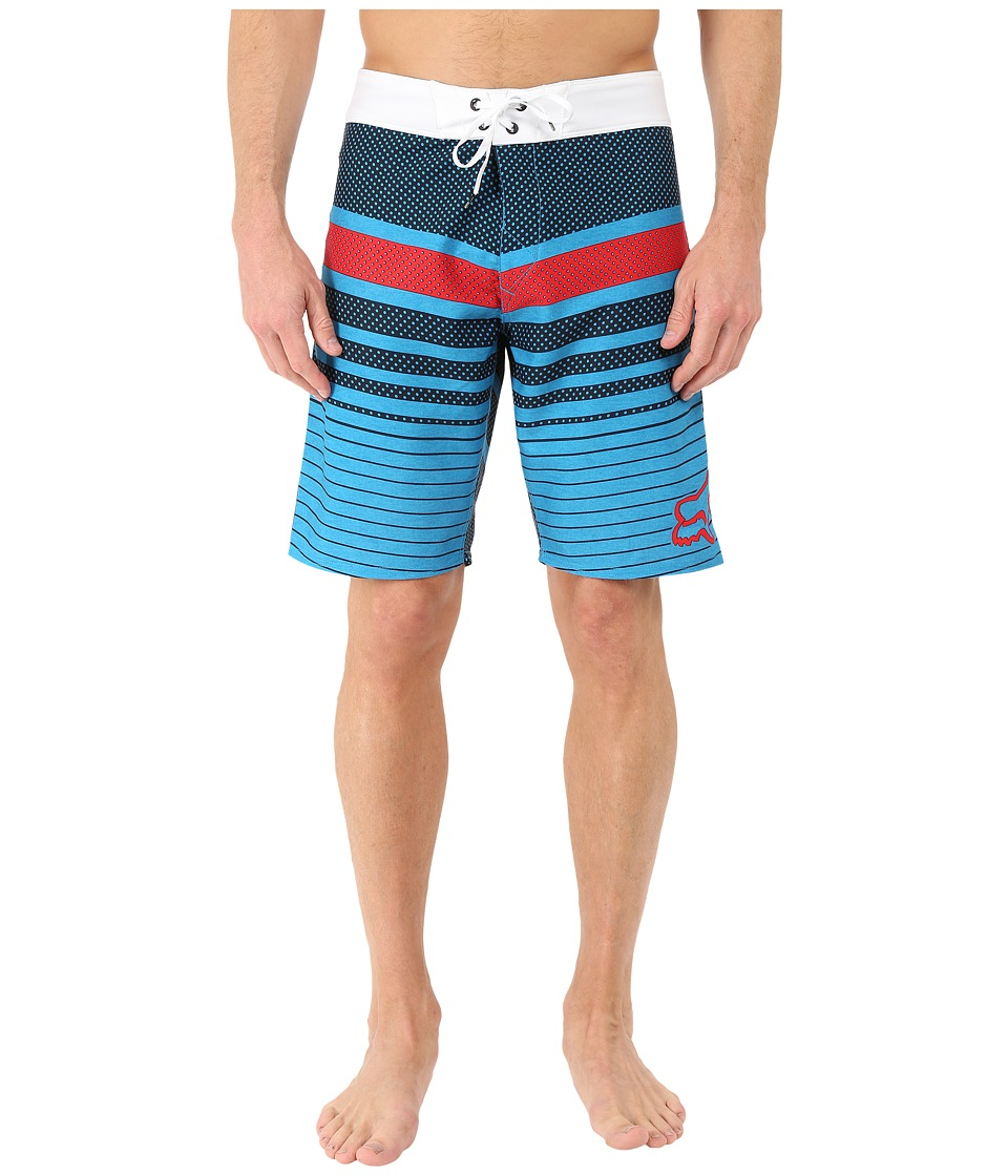 Fox - Double Down Boardshorts (Blue) Men's Swimwear