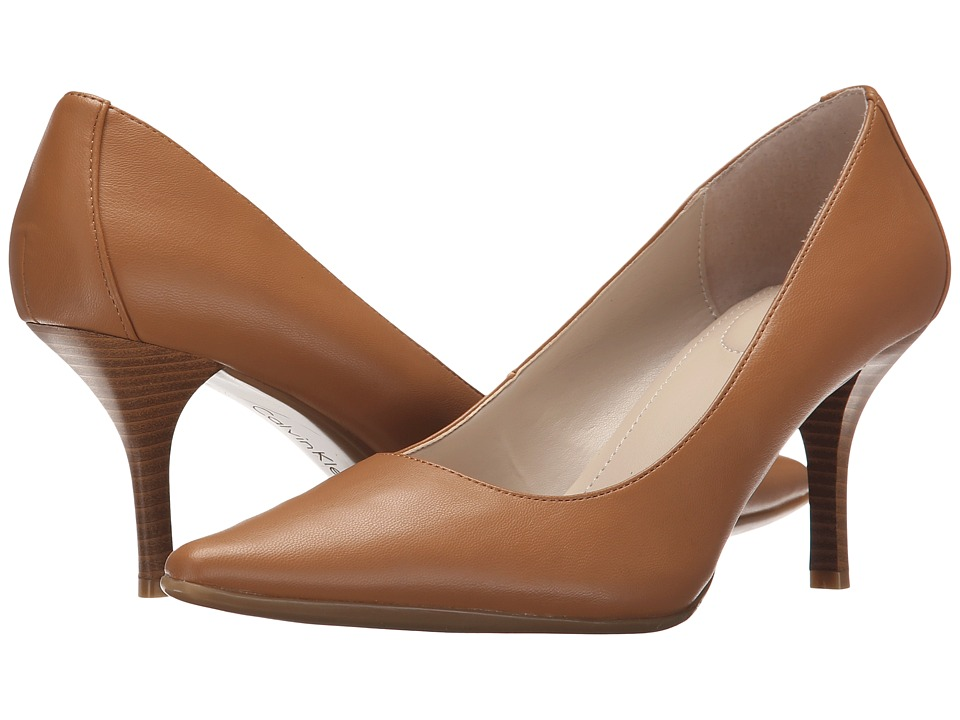 Calvin Klein - Dolly (Almond Tan) Women's 1-2 inch heel Shoes