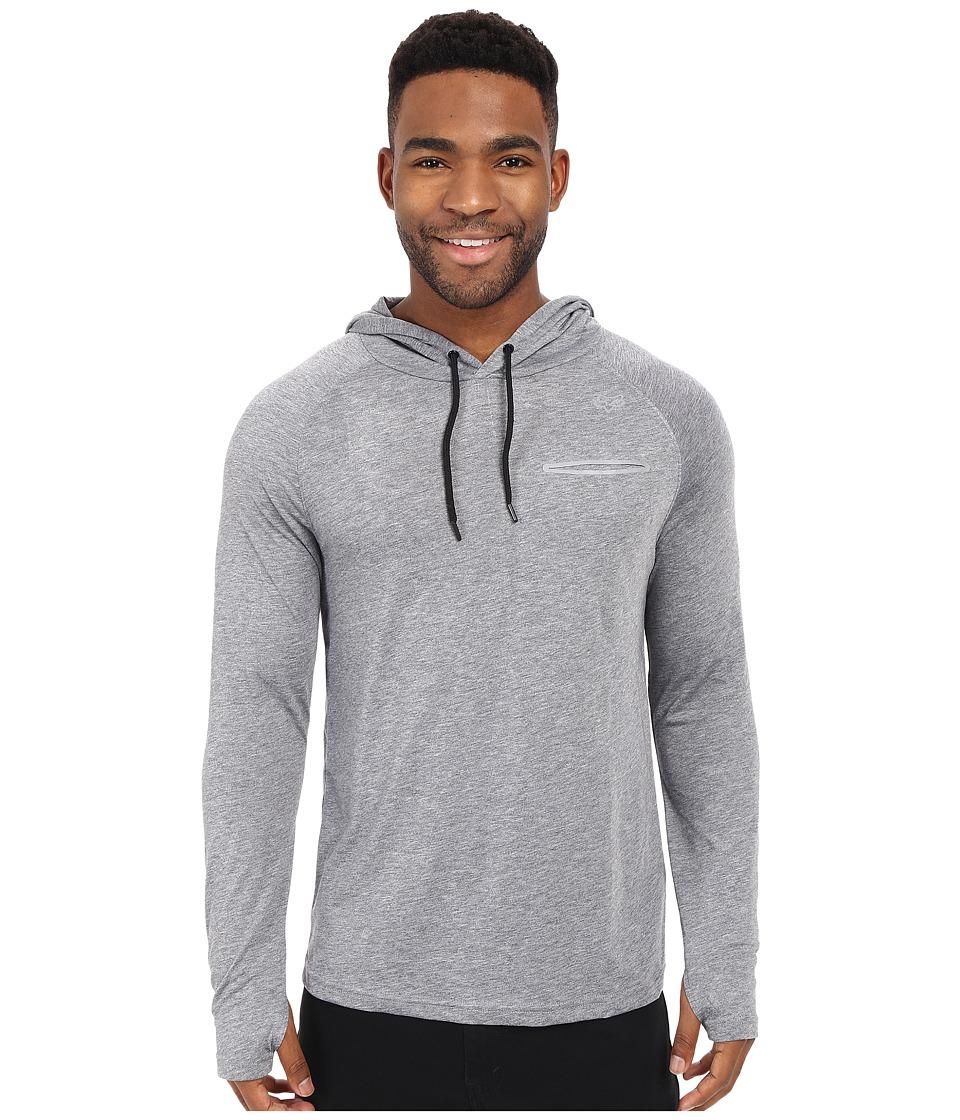Fox - Tech Long Sleeve Hoodie (Grey) Men's Sweatshirt