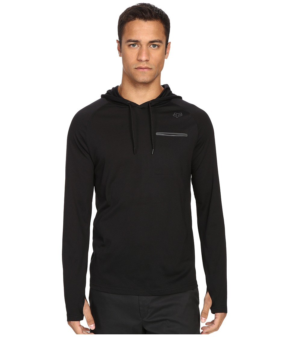 Fox - Tech Long Sleeve Hoodie (Black) Men's Sweatshirt