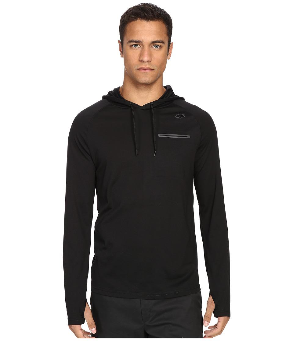 Fox - Tech Long Sleeve Hoodie (Black) Men's Sweatshirt