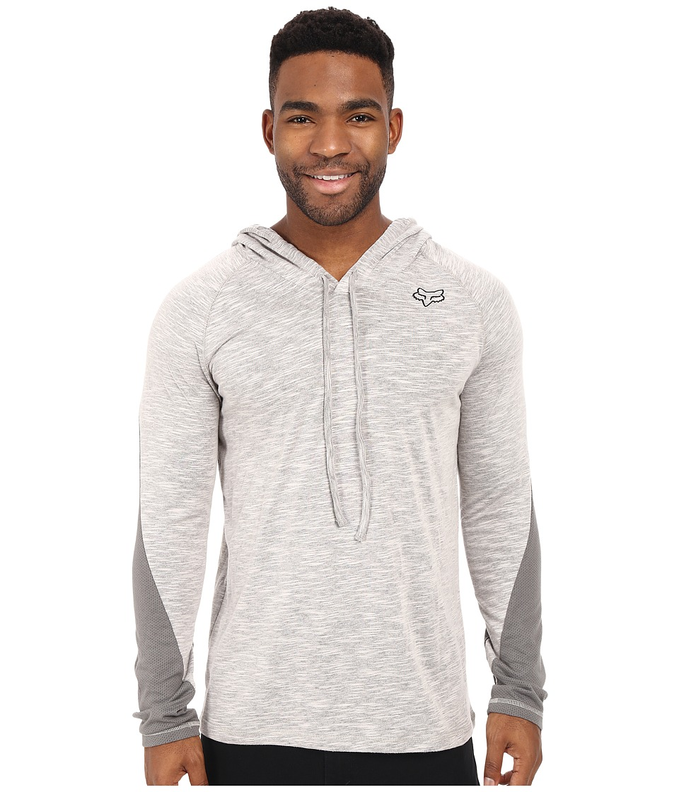 Fox - Kastaway Long Sleeve Hoodie (Heather Grey) Men's Sweatshirt