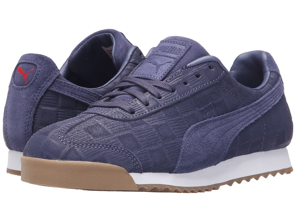 PUMA - Roma Emboss Checkered (Crown Blue) Women's Shoes