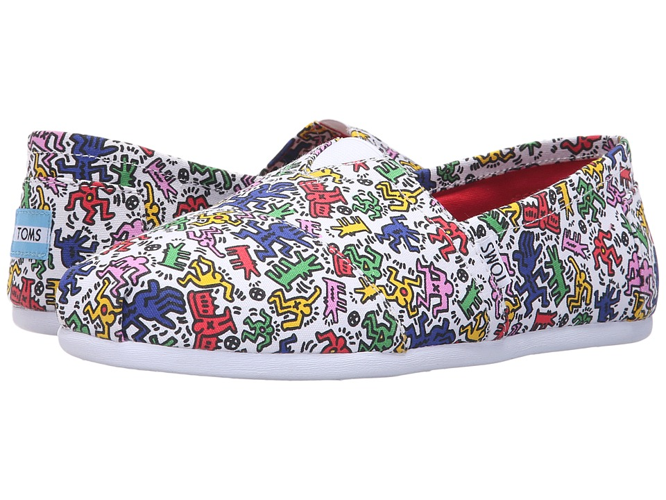 TOMS - Classics - Keith Haring (Keith Haring Pop) Men's Slip on Shoes