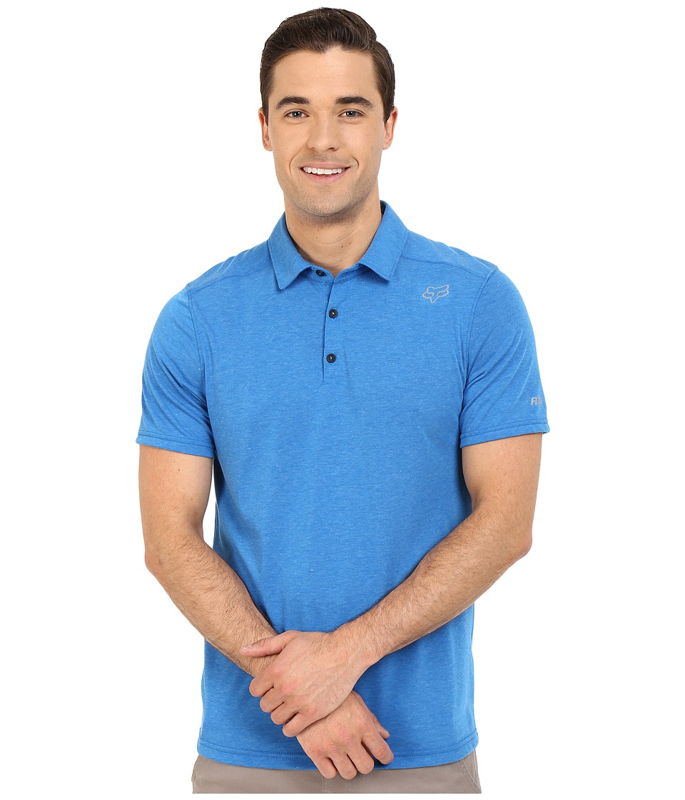 Fox - Rookie Short Sleeve Polo (Heather Blue) Men's Short Sleeve Pullover