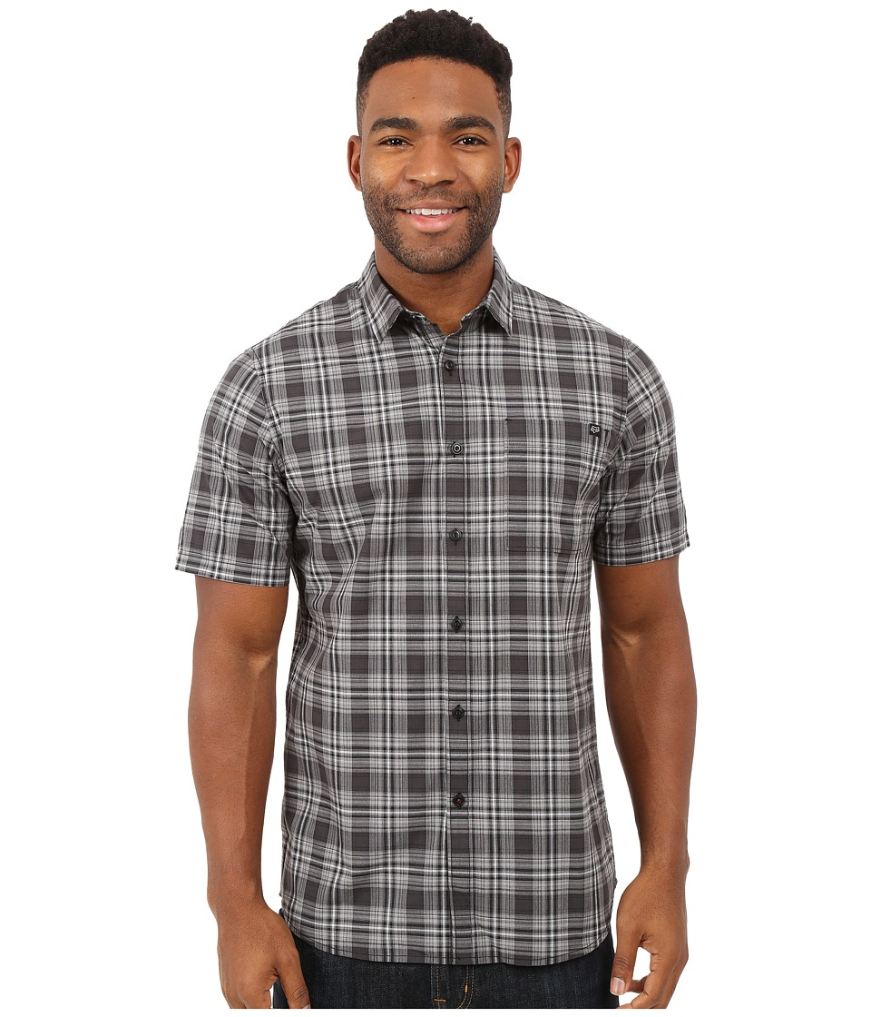 Fox - Krill Short Sleeve Woven (Black) Men's Short Sleeve Button Up