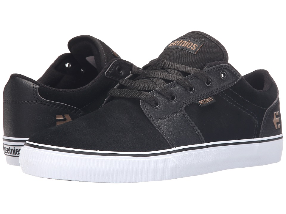 etnies - Barge LS (Black/Gum/White) Men's Skate Shoes