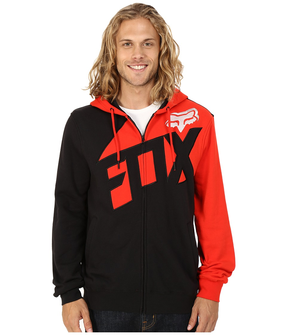 Fox - Breacher Zip Fleece (Flame Red) Men's Sweatshirt