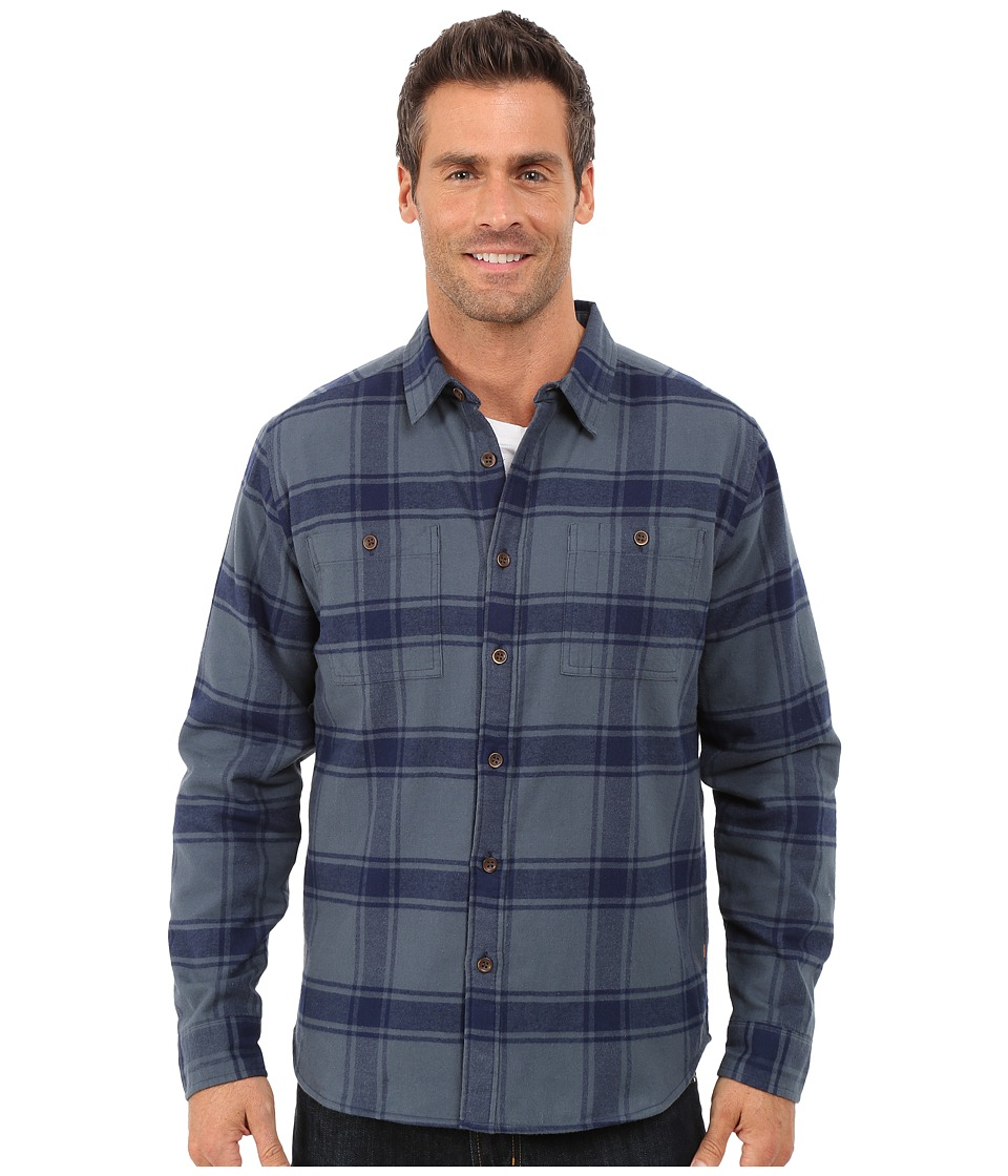 Quiksilver Waterman - Sierra Long Sleeve Woven Shirt (Dark Slate) Men's Long Sleeve Button Up