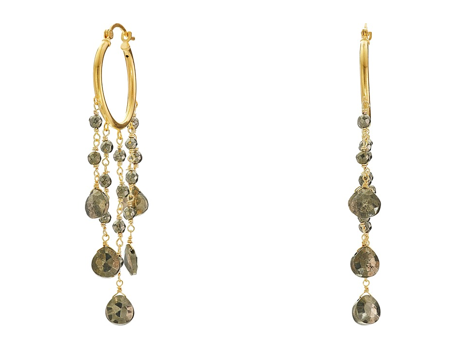 Dee Berkley - Pyrite Hoop Earrings (Gold) Earring
