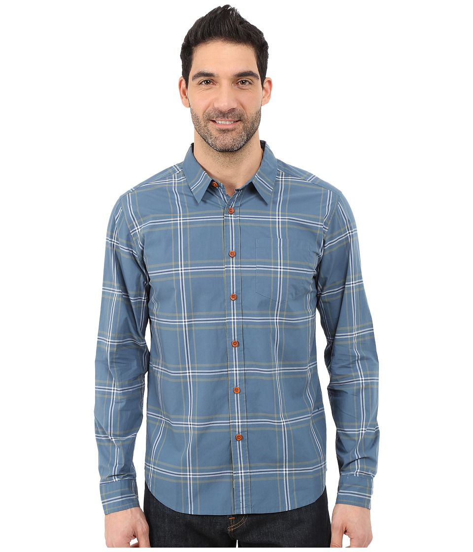 Quiksilver Waterman - Bahia Woven Shirt (Real Teal) Men's Long Sleeve Button Up