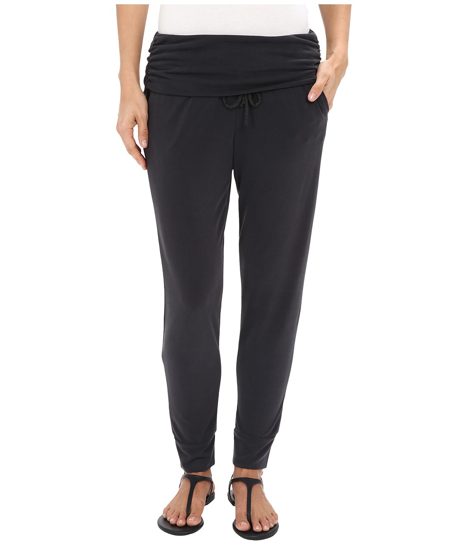 Splendid - Sandwash Jersey Fold-Over Pants (Black) Women's Casual Pants