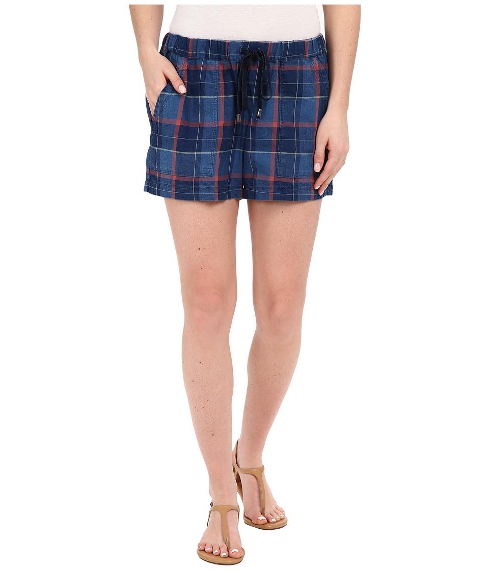 Splendid - Casta Plaid Shorts (Dark Wash) Women's Shorts