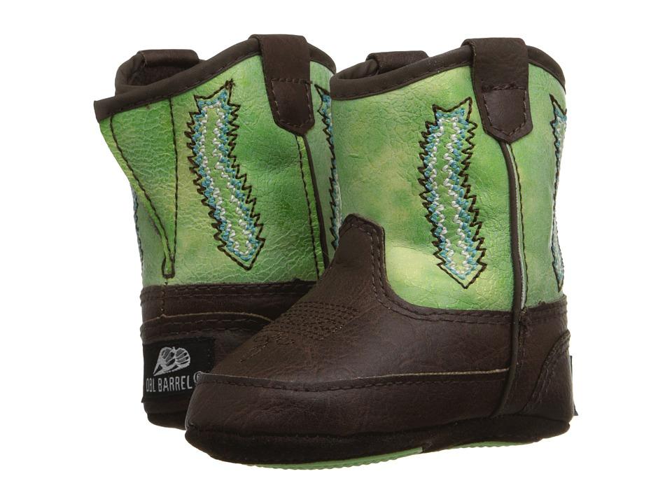 M&F Western Kids Baby Bucker Wyatt (Infant/Toddler) (Tan/Green) Cowboy Boots