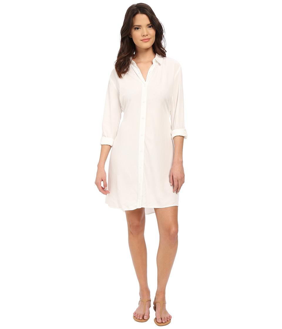 Splendid - Button Front Shirtdress (White) Women's Dress