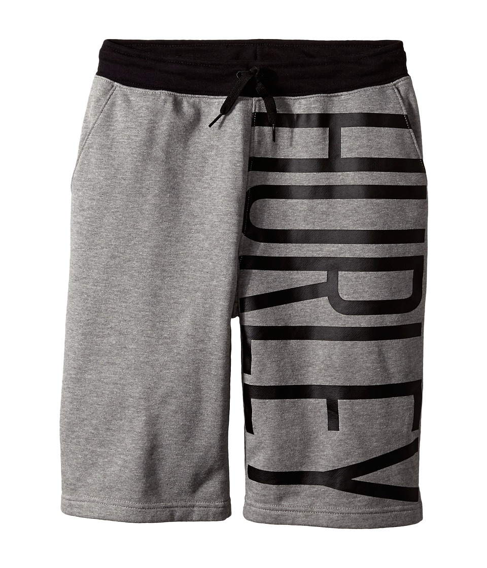 Hurley Kids - Off Short Knit Shorts (Big Kids) (Dark Grey Heather) Boy's Shorts