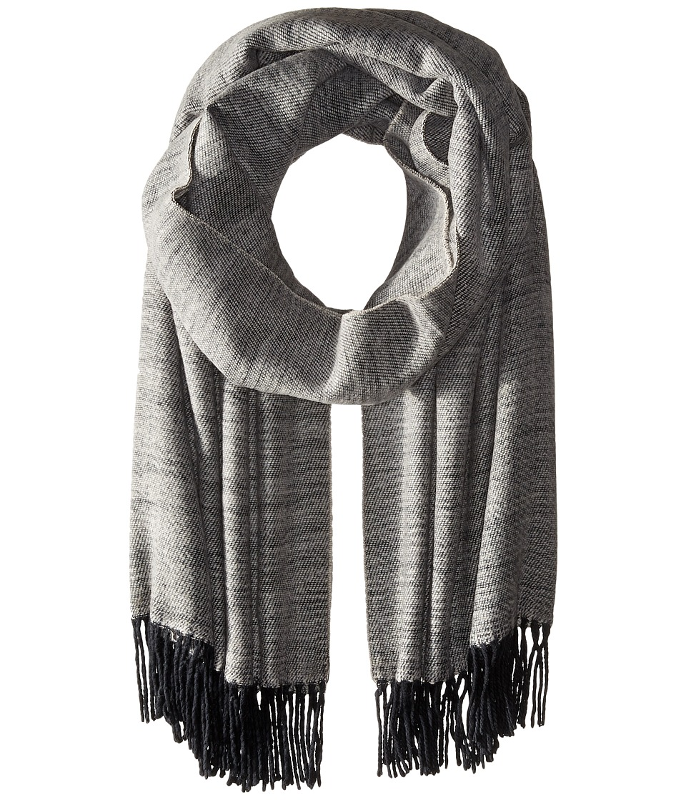 Echo Design - Soft Crossdye Blanket Wrap (Black) Scarves