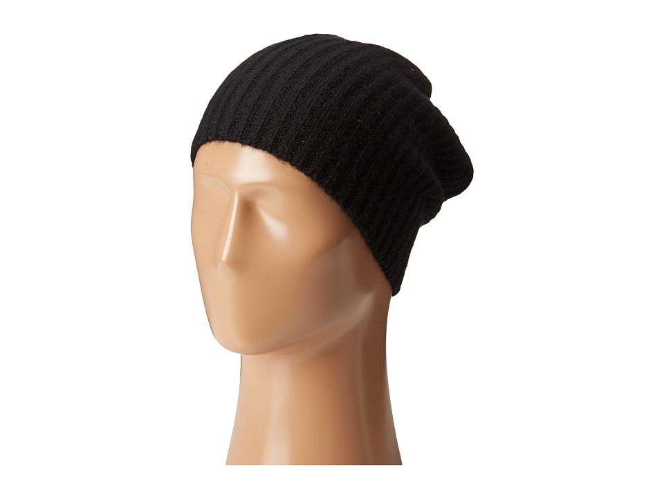 Echo Design - Chunky Cashmere Hat (Black) Knit Hats