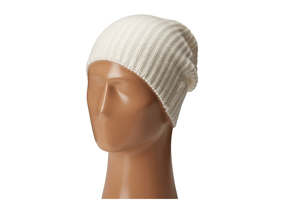 Echo Design - Chunky Cashmere Hat (White) Knit Hats
