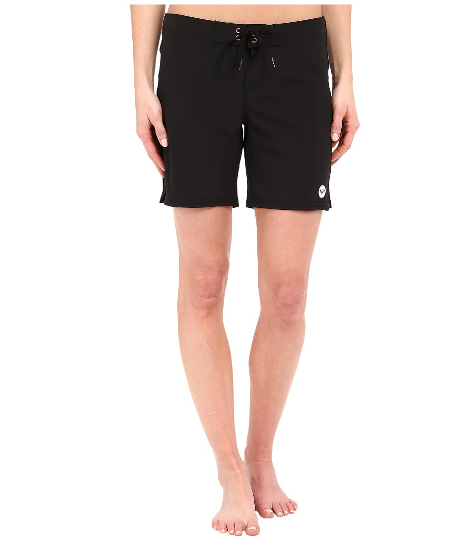 Roxy - Essentials To Dye For 7 Boardshorts (True Black) Women