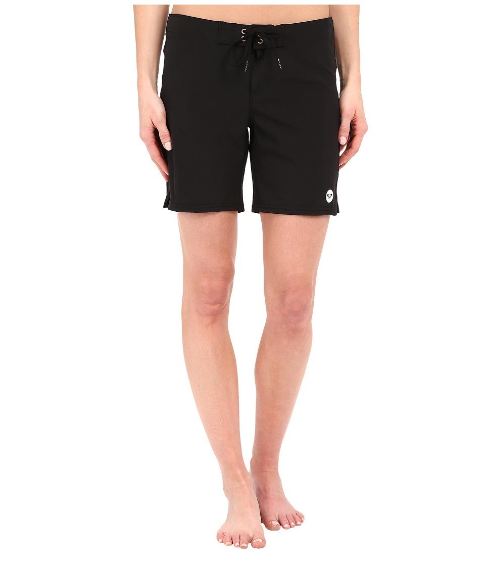 Roxy - Essentials To Dye For 7 Boardshorts (True Black) Women's Swimwear