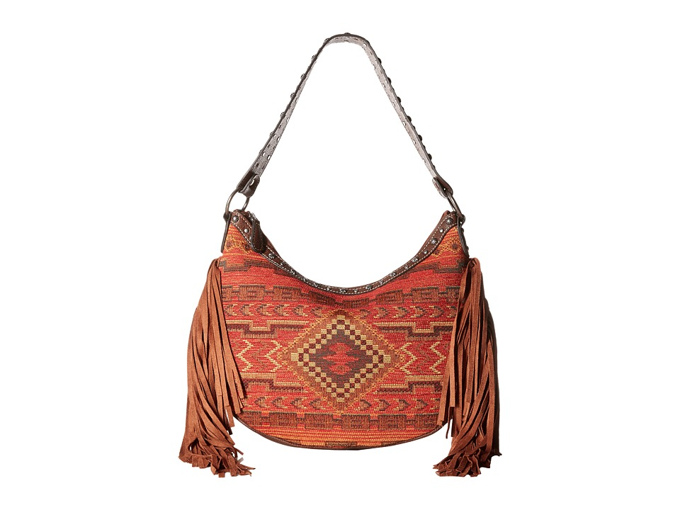 M&F Western - Indian Blanket Fringe Shoulder Bag (Multi) Shoulder Handbags