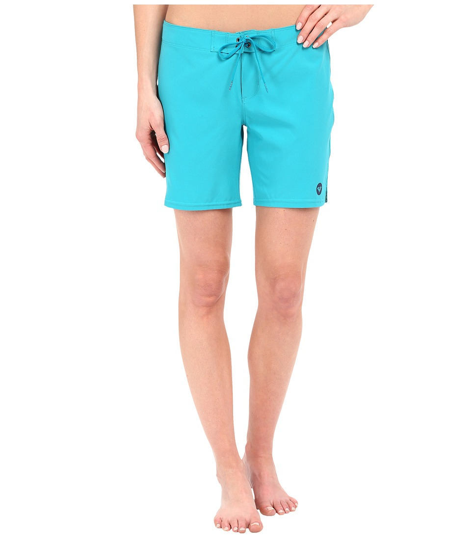 Roxy - Essentials To Dye For 7 Boardshorts (Dark Jade) Women