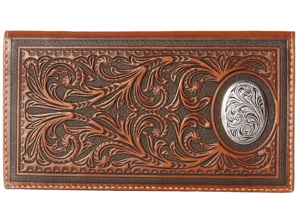 M&F Western - Large Oval Concho Embossed Rodeo Wallet (Tan) Wallet Handbags