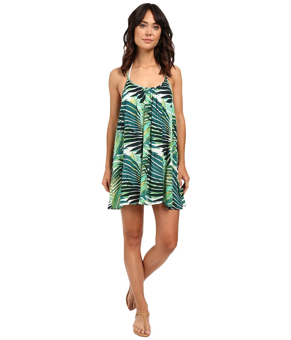 Roxy - Windy Fly Away Print Dress Cover-Up (Jungle Fever 2 Large Scale Combo) Women's Swimwear