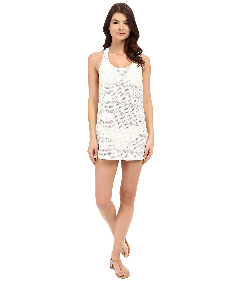 Roxy - Crochet Sporty Tee 2 Cover-Up (Sea Spray) Women's Swimwear