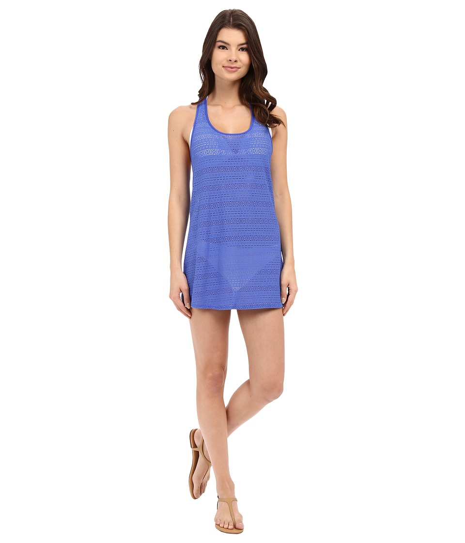 Roxy - Crochet Sporty Tee 2 Cover-Up (Majorelle Blue) Women's Swimwear
