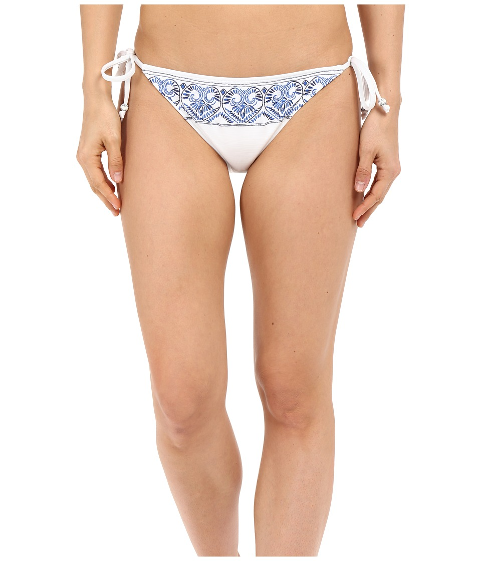 Roxy - Sandy Tile Tie Side 70s Tie Pants (White) Women's Swimwear