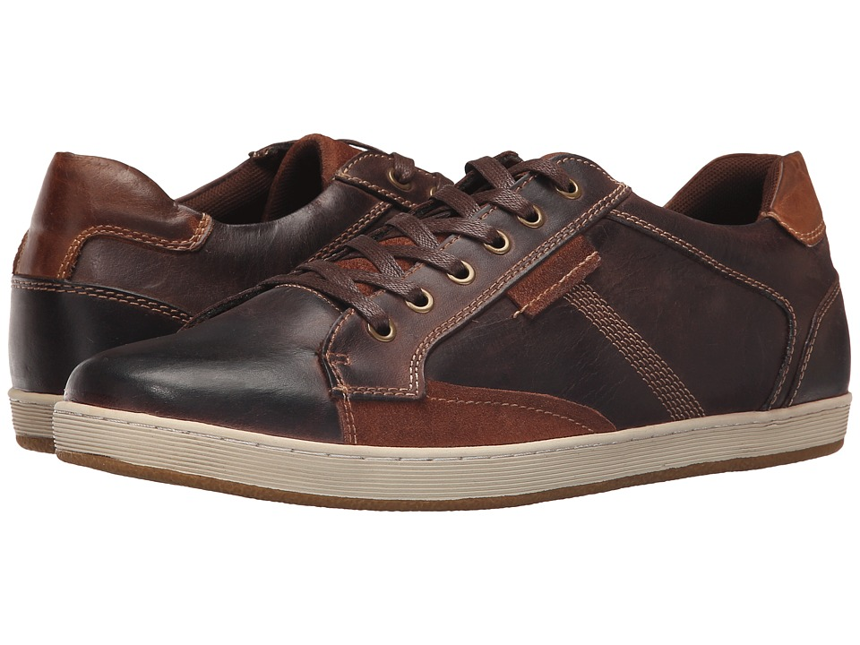 Steve Madden - Peamont (Dark Brown Leather) Men's Lace up casual Shoes