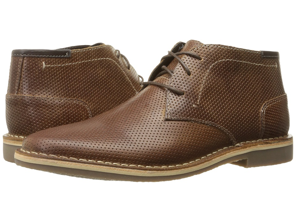 Steve Madden - Helee (Cognac Leather) Men's Lace Up Wing Tip Shoes