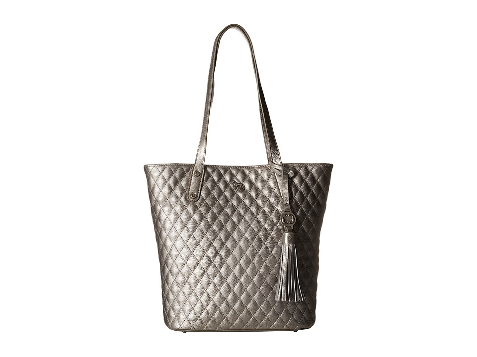 Emma Fox - Caspian Quilt North/South Tote (Pewter) Tote Handbags
